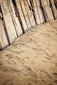 Vintage wooden fence — Stock Photo