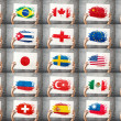 Stock Photo: Various national flags collection