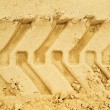 Truck tracks in sand — Stock Photo #42746007