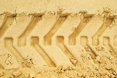 Truck tracks in sand — Stock Photo