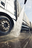 Washing truck — Stock Photo