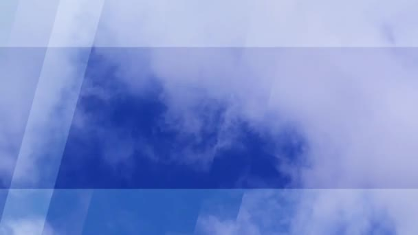 Weather forecast background. Time lapse footage of blue ...