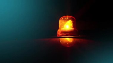 Flashing beacon. Orange flashing and rotating light on top of a support and services vehicle. — Stock video