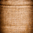 Texture of old dirty brown potato sack. — Stock Photo