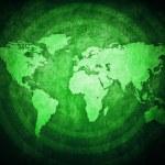 Green World Map — Stock Photo #43131457