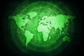 Green World Map — Stock Photo
