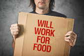 Will work for food — Stock Photo