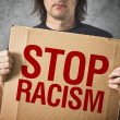 Stop racism message — Stock Photo
