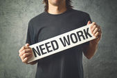 Man needs work — Stock Photo