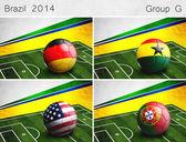 Brazil 2014, Group G — Stock Photo