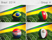 Brazil 2014, Group A — Stock Photo