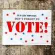 Election day poster reminding you to Vote — Stock Photo #45461295