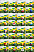 Brazil 2014, Group Drawings — Stock Photo