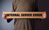 Http Error 500, Server error page concept — Stock Photo