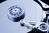 Coputer hard disk close up detail — Stock Photo