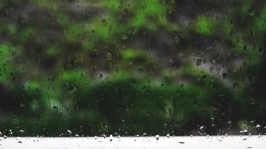 Raindrops on the windowpane. 1920x1080, 1080p, hd footage. — Stock Video