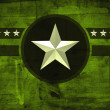 Military army star over grunge background — Stock Photo #46266605