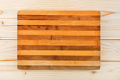 Worn butcher block cutting and chopping board as background — Stock Photo