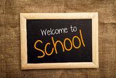 Okula hoş geldiniz — Stok fotoğraf