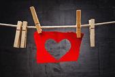 Heart shaped Valentine's Day card — Stockfoto