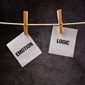 Emotion or Logic concept. — Stock Photo