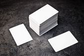 Business cards with rounded corners — Stock Photo
