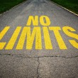No limits message on the road — Stock Photo #48082583