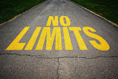 No limits message on the road — Stock Photo