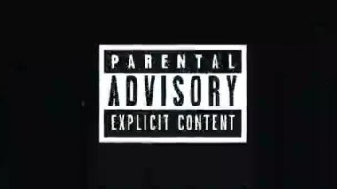 Parental advisory label - explicit content label on TV noise background. 1920x1080, 1080p, hd footage. — Stock Video