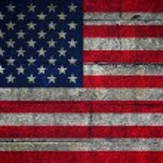 USA flag on grunge background — Stock Photo