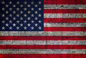 USA flag on grunge background — Stock Photo