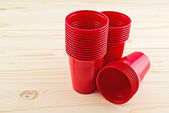 Plastic red cups — Photo