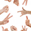 Hand signs — Stock Photo #4852530