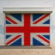 Great Britain flag on shop door — Stock Photo #48540917