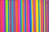 Drinking straws as colorful background. — Stock Photo