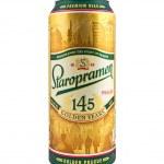 Staropramen beer can, special 145 jubilee golden edition — Stock Photo #48672371
