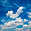 Blue daylight summer sky with white clouds — Stock Photo #48710561