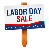 Labor Day Sale sign isolated on white background — Stock Photo