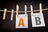 A or B as concept of choice — Stock Photo