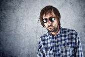 Unshaven man with sunglasses — Stockfoto