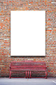 Blank outdoor advertising billboard — Stockfoto