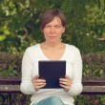 Woman using digital tablet computer — Stock Photo #50297319