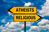 Atheists or Religious — Stock Photo