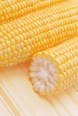 Corn Cob in half — Stock Photo