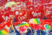 Colorful sweet candies at street market — Photo