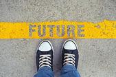 Vstupte do budoucnosti. — Stock fotografie