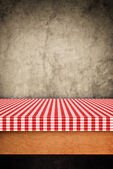 Table cloth, kitchen napkin on wooden background. — Stock Photo