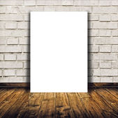 Blank poster as copy space template for your design — Stock Photo