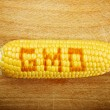 GMO Corn Maize Cob on wooden background — Stock Photo #51476461