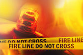 Fire Line Do Not Cross — Stock Photo